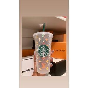 Louis Vuitton Starbucks reusable cup